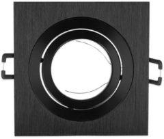 Led-line LED Line Inbouwspot - Vierkant - Kantelbaar - Geborsteld Aluminium - GU5.3 Fitting - Zwart