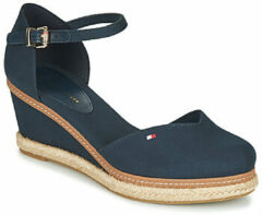 Blauwe Sandalen BASIC CLOSED TOE MID WEDGE by Tommy Hilfiger