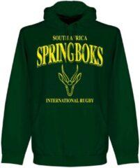 Retake Zuid Afrika Spingboks Rugby Hooded Sweater - Donkergroen - XXL