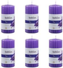 6 stuks Bolsius french lavender - lavendel geurkaarsen 120/58 (30 uur)