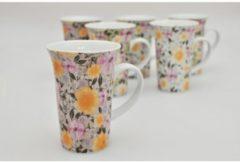 Kaffeebecher 6er-Set Batik Flower HTI-Line Bunt