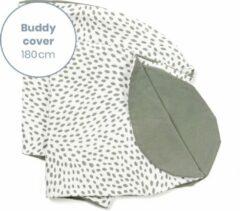 Doomoo Buddy Cover - Risotto Kaki - Hoes voor voedingskussen Buddy - biologisch Katoen - 180 cm