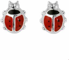 Rode Huiscollectie TFT Oorknoppen Lieveheersbeestje Zilver Glanzend 8 mm x 6.5 mm