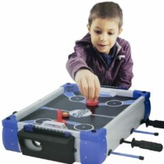 Blauwe Scatch Tafelspel 5-in-1 - voetbal - basketbal - bowling - hockey - badminton