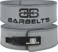 Barbelts lever belt 10mm - powerlift riem - grijs - XS