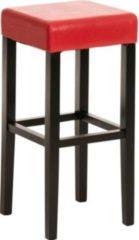 CLP Stabiler Holz-Barhocker JUDY mit Kunstlederbezug, für höchste Ansprüche, Sitzhöhe 80 cm, aus bis zu 18 Farben wählen