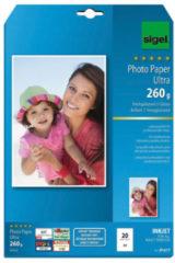 Witte Sigel Inkjet Ultra fotopapier A4 260 gram hoogglans 20 vel