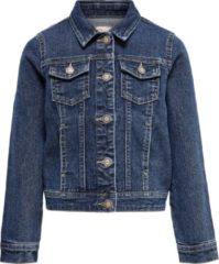 Blauwe KIDS ONLY Meisjes Donkere Spijkerjas - Medium Blue Denim - Maat 122
