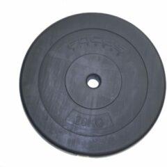 Zwarte Halterschijf 30 mm Focus Fitness - kunststof - 1 x 20 kg