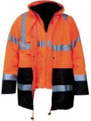 M-Wear 4-in-1 parka 0981 fluo oranje/marineblauw maat S