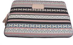 Rode Kayond Laptop Sleeve tot 13 inch - 34,5 x 24,5 x 1,5 cm - Bohemian Style - Beige/Blauwgroen/Rood