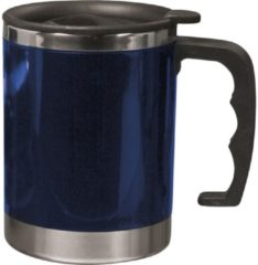 Merkloos / Sans marque Dubbelwandige thermosbeker 400 ml blauw - vacuum thermosbeker