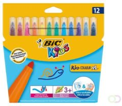 Viltstift Bic 219 kid couleur 1131 assorti breed etui à 12st