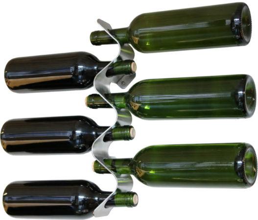 Afbeelding van Black & Blum Roestvrijstalen wijnrek Flow voor 6 flessen | black+blum