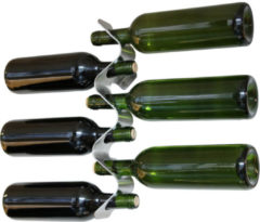 Black & Blum Roestvrijstalen wijnrek Flow voor 6 flessen | black+blum