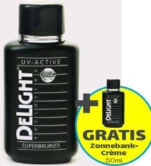 Zonnebankcrème - Delight UV-Active Exclusive Superbruiner 250 ml - tanning milk + Gratis 50ml Zonnebank Tanning Milk