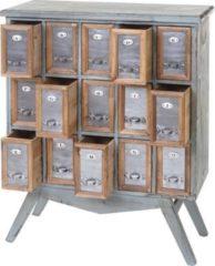 Heute-wohnen Apotheker-Schrank HWC-A43, Kommode, Tanne Holz massiv Vintage Shabby-Look 94x73x32cm