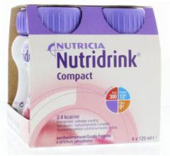 Nutricia Nutridrink Compact aardbei - 4 x125 ml