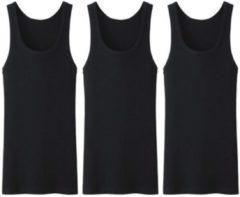 3 stuks Bonanza onderhemd - 100% katoen - zwart - Maat S