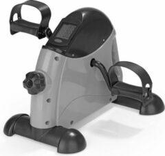 Zwarte VitalMaxx Fitness Mini Bike Bewegingstrainer Hometrainer - Stoelfiets - pedaaltrainer voor thuis/kantoor - fiets simulator - been en armtrainer met trainingscomputer