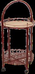 Clayre & Eef Bijzettafel 5Y0658 Ø 49*98 cm - Rood IJzer / hout Sidetable Tafeltje