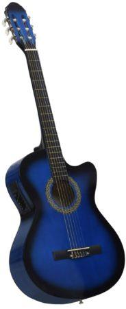 Afbeelding van VidaXL Gitaar cutaway met equalizer 6 snaren western akoestisch blauw