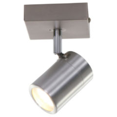 Zilveren Steinhauer LED spot Upround 1 lichts - mat staal