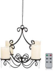 Maison Glamour Leuchter mit 4x LED-Stumpenkerzen