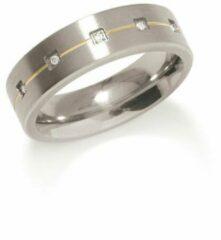 Zilveren Boccia Titanium 010119 Ring - Titanium - Bicolor
