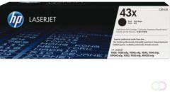 HP 43X - hoog rendement - zwart - origineel - LaserJet - tonercartridge (C8543X)
