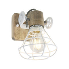 Anne Light & home Anne Lighting Guernsey wandlamp | kooi | 18 cm hoog | 27 cm diep | wit