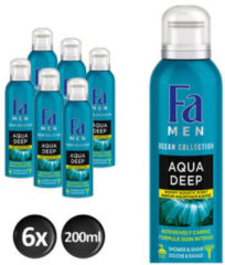 Fa Men Aqua Deep Doucheschuim - 200 ml - 6 stuks - Voordeelverpakking