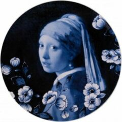 Heinen Delfts Blauw Delfts blauw wandbord Meisje met de Parel - Delfts blauw Sierbord - Wandtegel - Porselein wandbord - Vermeer - Sierbord ophangen - Incl. bevestiging - Hollandse souvenir - Relatiegeschenk - Wanddecoratie