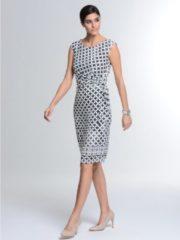 Kleid Alba Moda Grau/Weiß