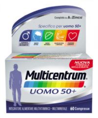 Pfizer Multicentrum Uomo 50+ multivitaminico-multiminerale 60 compresse