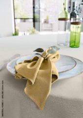 Mistral Home - set van 4 servetten - katoen polyester - 43x43 cm - mosterd geel