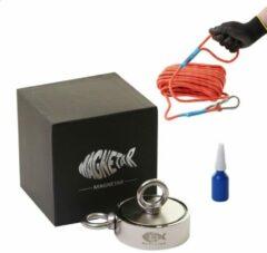 Magnetar 【Vismagneet 400kg dubbel zijdig 】– Sterke neodymium vismagneet – 200 + 200kg – Compleet met schroef borgmiddel voor magneetvissen
