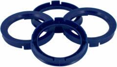 Universeel Set TPI Centreerringen - 63.3->56.6mm - Reflex Blauw