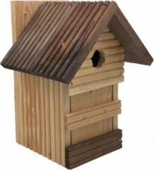 Naturelkleurige Garden Spirit - Vogelhuisje voor Pimpelmees - Nestkast Naturel Bruin - Ø 30 mm 11 x 13 x 25 cm
