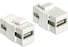 DeLOCK Netzwerk-Zubehör Keystone Modul USB 2.0 A Buchse > USB 2.0 A Buchse