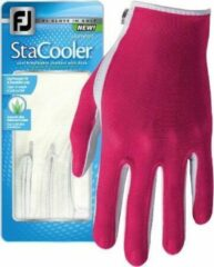 Roze Footjoy Stacooler Fashion Glove met Aloë Vera, diverse kleuren, zomer golfhandschoen Links Fuchsia Dames L