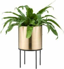Lucy's Living Lucy's Living Luxe bloempot op pootjes GEG – ø20 x 34 cm – binnen – buiten – luxe – accessoires – tuin – decoratie – bloemen – voor binnen – voor buiten – zwart - goud