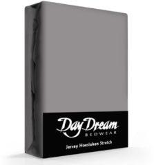 Day Dream Jersey Hoeslaken Donkergrijs-140 x 200 cm
