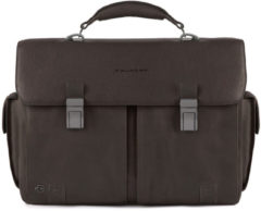 Donkerbruine Piquadro Black Square Computer Briefcase 15.6 Dark Brown