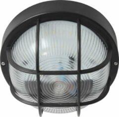 Zwarte Reled LED Bulkhead Plafondlamp / Wandlamp - 9W