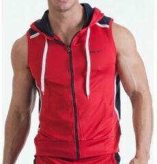 Rode Sweater Code 22 Mouwloos jasje Neo Code22