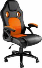 Tectake - Bureaustoel Tyson zwart / oranje - 403469