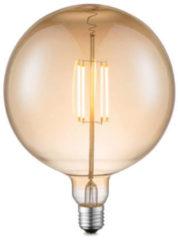 Witte Home sweet home LED lamp Globe G180 E27 4W 400Lm 2700K dimbaar - amber - 2e kans