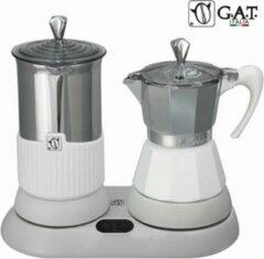 G.A.T. Italia Gatpuccino Wit Elektrische Percolator met Melkopschuimer - 4 kops - 200ml