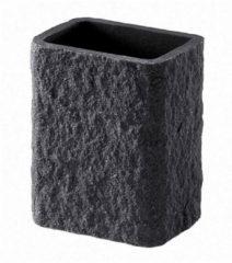 Antraciet-grijze Tandenborstelhouder Sapho Aries Vrijstaand 11.8x9.4x6.6 cm Polyresin Antraciet